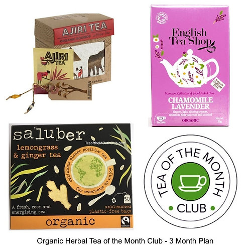 Organic Herbal Tea of the Month Club - 3 Month Subscription ift Box
