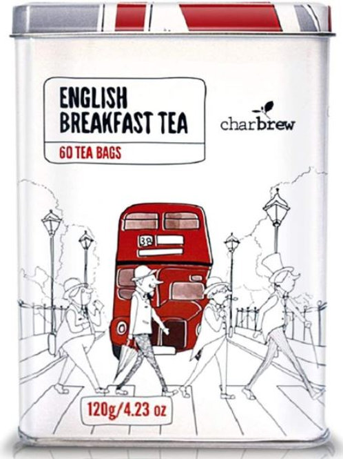 Charbrew Abbey Road Tin English Breakfast Tea - 60 Tea Bags