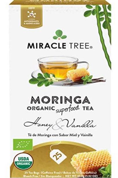 Miracle Tree Organic Moringa Superfood Tea Honey & Vanilla - 25 Tea Bags