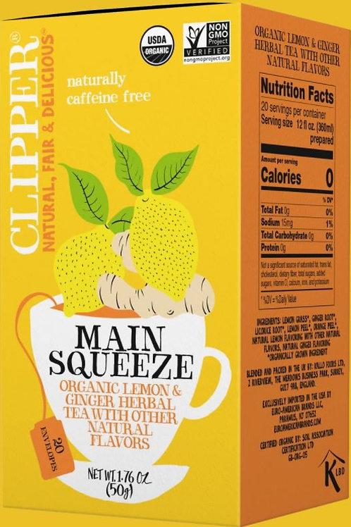 Clipper Organic Main Squeeze Herbal Tea - 20 Tea Envelopes