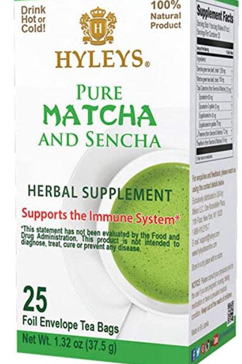 Hyleys Matcha and Sencha Green Tea - 25 Tea Bags