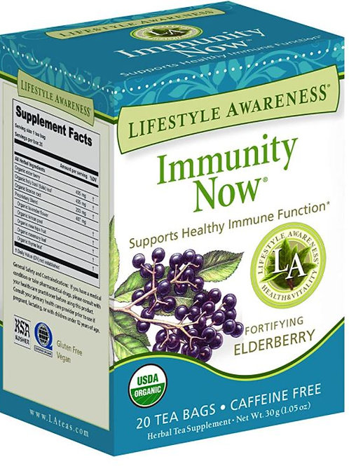 Lifestyle Awareness Immunity Now Tea with Fortifying Elderberry