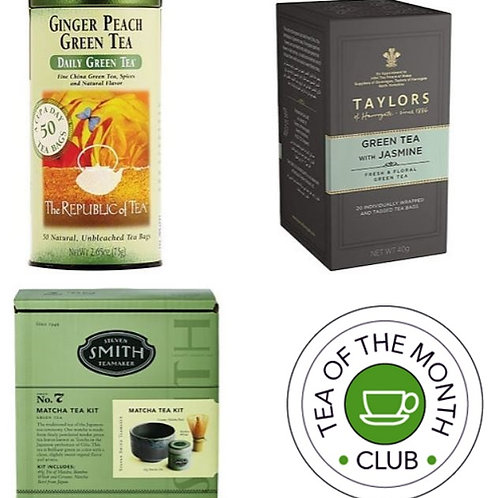 Green Tea of the Month Club - 3 Month Gift Subscription Gift Box