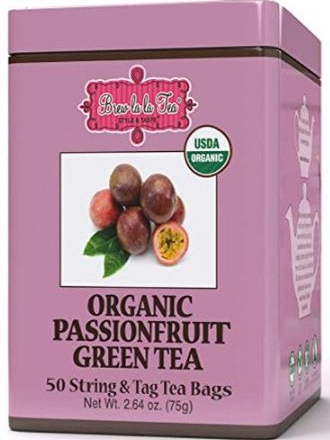 Brew La La Organic Passionfruit Green Tea - 50 Tea Bags