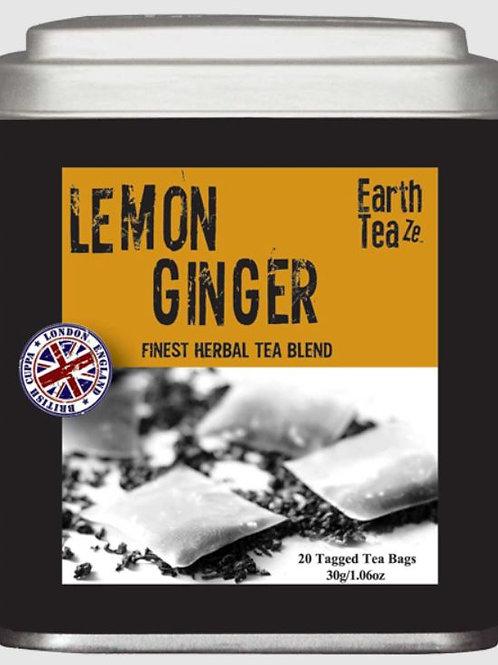 Earth Teaze Lemon Ginger Herbal Tea - 20 Tea Bags