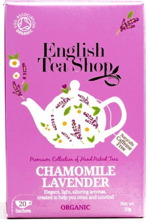 English Tea Shop Organic Tea Chamomile Lavender -  20 Tea Bags