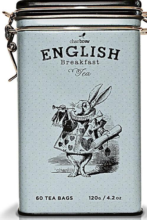 Charbrew Mad Hatter Tin English Breakfast Tea - 60 Tea Bags