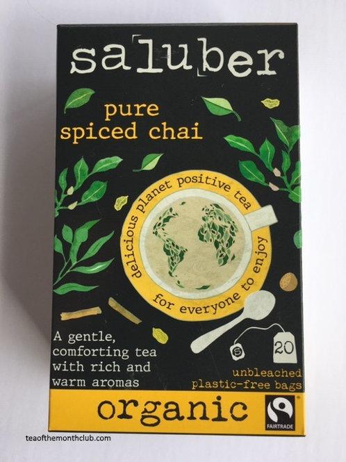 Saluber Organic Pure Spiced Chai Tea - 20 Tea Bags