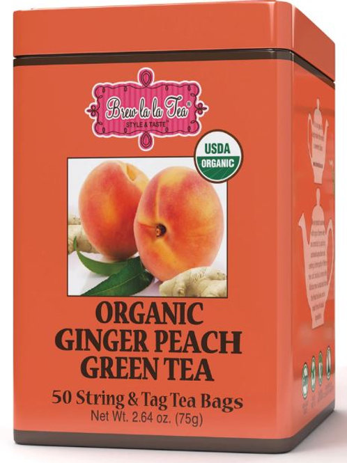 Brew La La Organic Ginger Peach Tea - 50 Bags