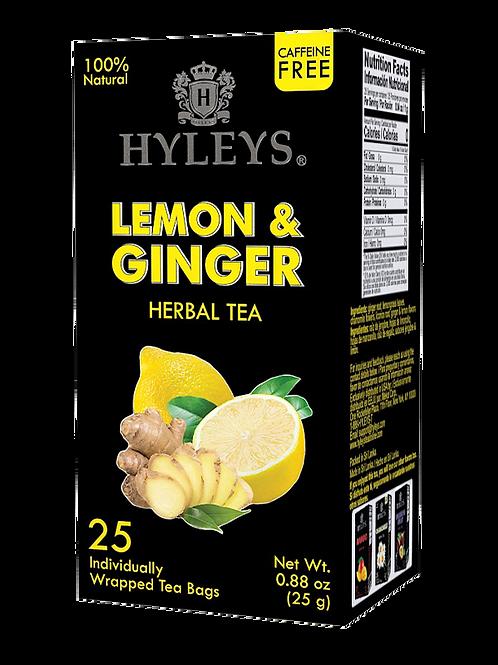 Hyleys Lemon & Ginger Chamomile Herbal Tea - 25 Tea Bags