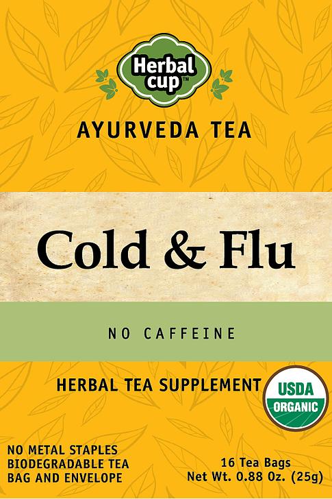 Herbal Cup Cold and Flu Organic Herbal Tea - 16 Tea Bags