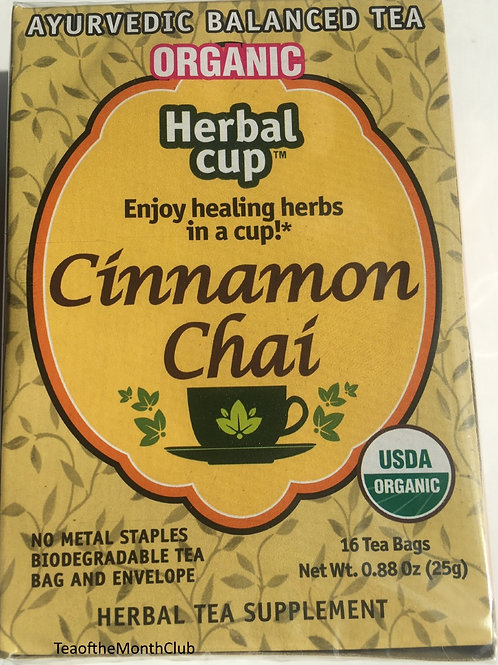 Herbal Cup Organic Cinnamon Chai Tea- 16 Tea Bags