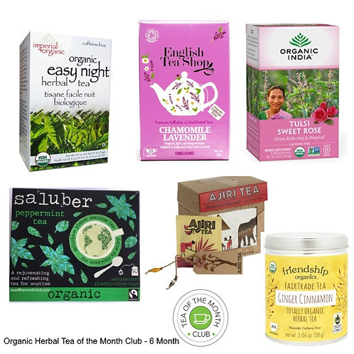 Organic Herbal Tea of the Month Club - 6 Month