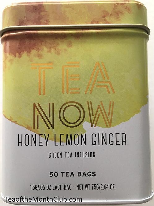 Tea Now Honey Lemon Ginger Green Tea - 50 Tea Bags in a Tin