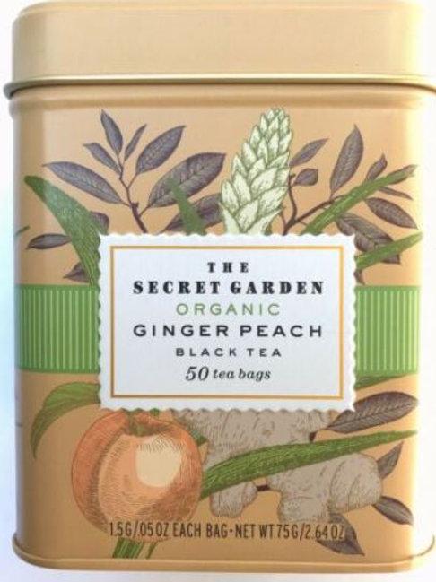 The Secret Garden USDA Organic Ginger Peach Black Tea - 50 Bags