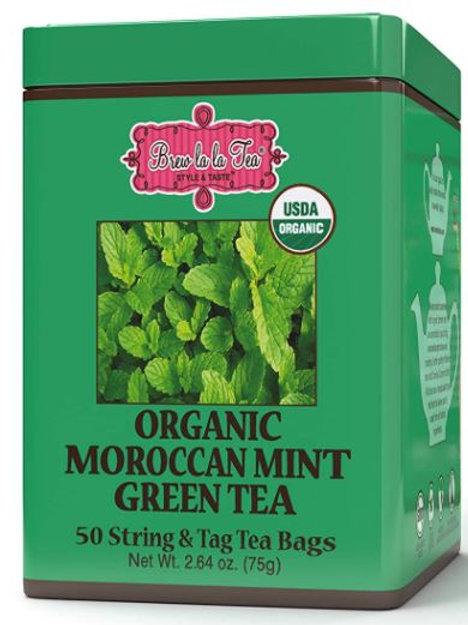 Brew La La Organic Moroccan Mint Green Tea - 50 Tea Bags