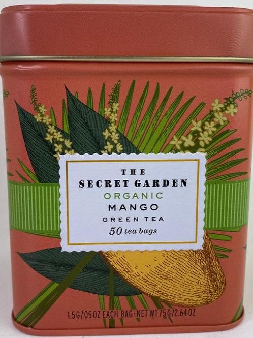 The Secret Garden Organic Mango Green Tea - 50 Tea Bags