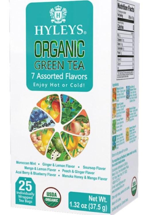 Hyleys Organic Green Tea 7 Assorted Flavors