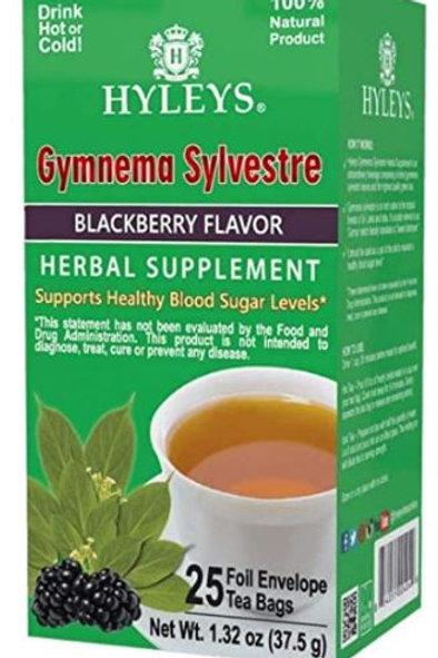 Hyleys Gymnema Silvestre Green Tea With Blackberry Flavor - 25 Tea Bags