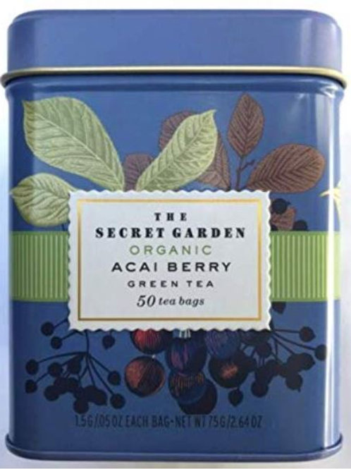The Secret Garden USDA Organic Acai Green Tea - 50 Tea Bags