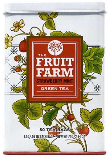 The Fruit Farm Strawberry Mint Green Tea - 50 Tea Bags