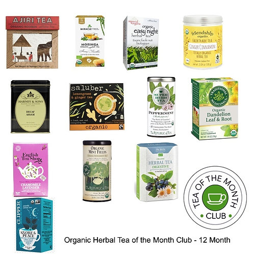 Organic Herbal Tea of the Month Club - 12 Month