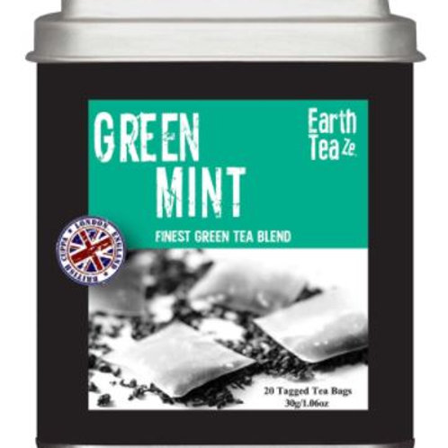 Earth Teaze Green Tea with Mint - 20 Tea Bags