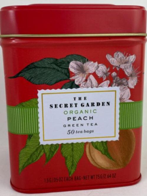 The Secret Garden Organic Peach Green Tea - 50 Tea Bags