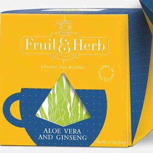Trice Fruit & Herbs Aloe Vera & Ginseng Green Tea - 20 Tea Bags
