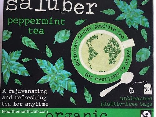 Saluber Organic Peppermint Tea - 50 Tea Bags