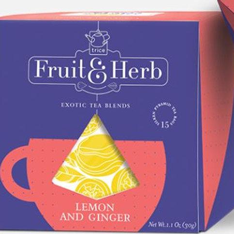 Trice Fruit & Herb Lemon and Ginger Green Tea - 20 Tea Bags