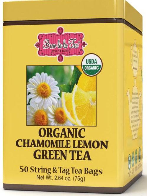 Brew La La Organic Chamomile Lemon Green Tea - 50 Bags
