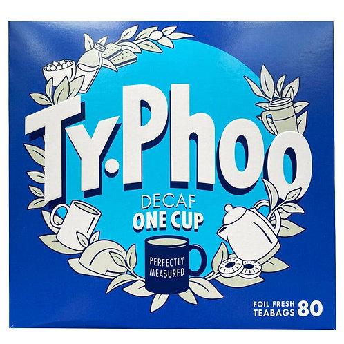 Typhoo Decaf One Cup Black Tea - 80 Tea Bags