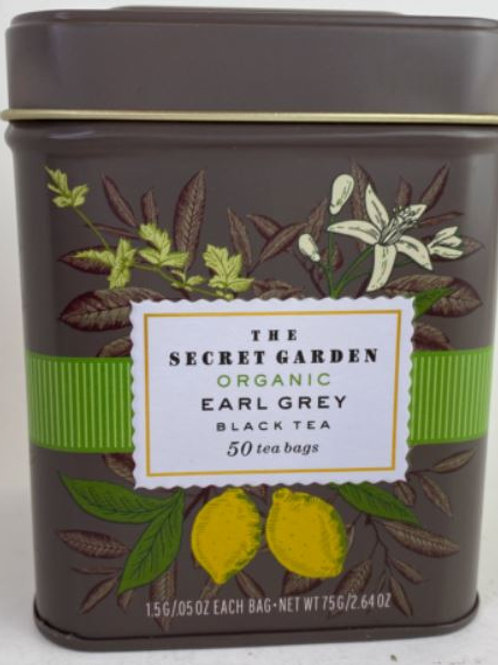 The Secret Garden USDA Organic Earl Grey Black Tea - 50 Tea Bags