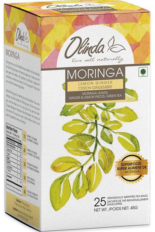Olinda Moringa Lemon Ginger Green Tea - 25 Tea Bags