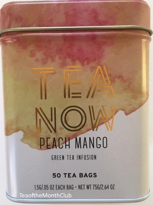 Tea Now Peach Mango Green Tea - 50 Tea Bags in a Tin