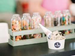 Scoop of ice cream at West Side Creamery