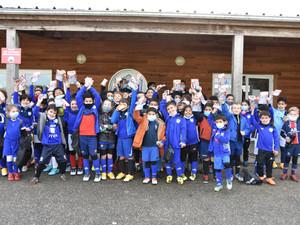 Ecole de foot - Chocolat et panini avant les vacances de Noël