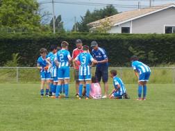 Les U12 victorieux à Gontaud.