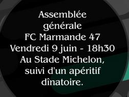 Assemblée générale du Football Club de Marmande, vendredi 9 juin à 18H30