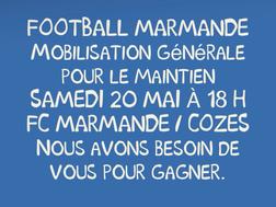 Samedi 20 Mai à 18H : Tous en Bleu et Blanc pour Gagner et se maintenir en CFA2 !!!! Stade Michelon