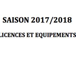 LICENCES – SAISON 2017/2018 - Nouvelle procédure.