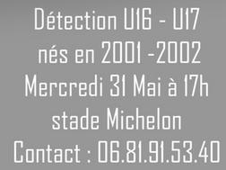 Détection U16 et U17.