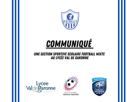 CLUB - Une nouvelle section sportive scolaire football mixte au lycée VdG