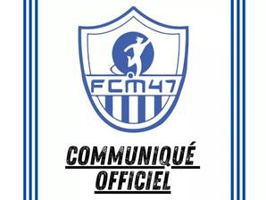 Communiqué - Arrêt des entraînements et compétitions de football