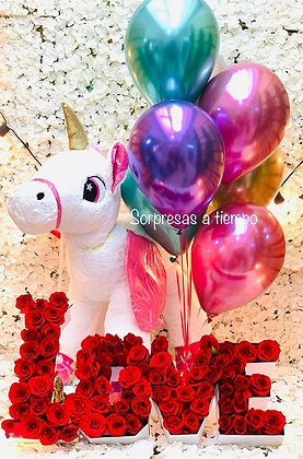 Unicorn + Rosas love (R107)