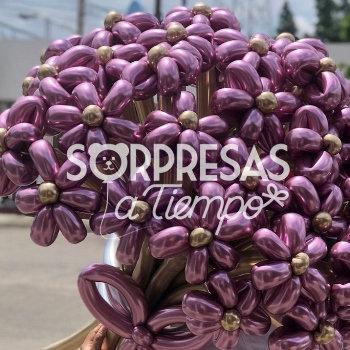 Bouquet veinticuatro flores de globos (A097-2)