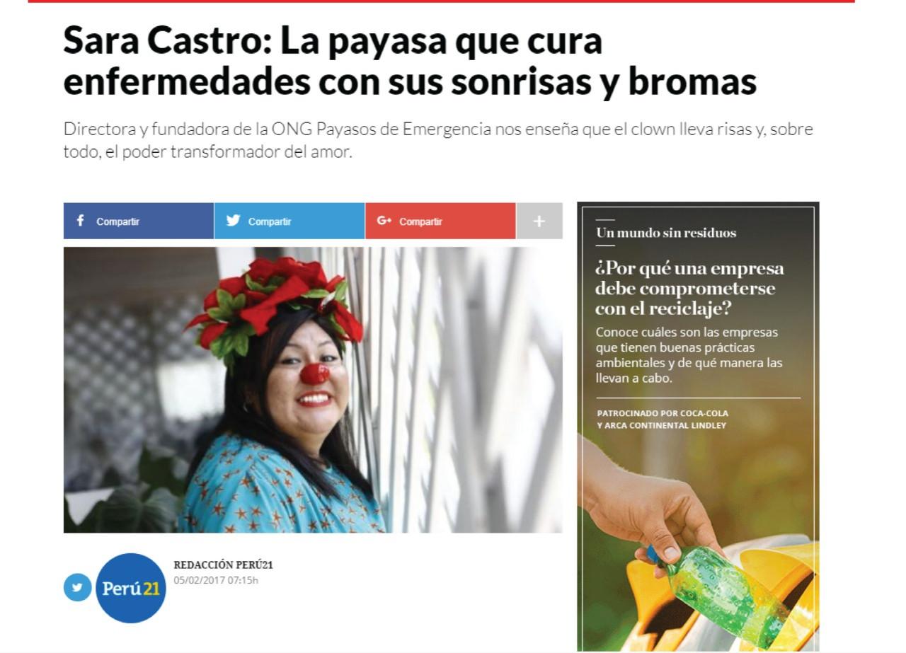 Sara Castro: La payasa que cura enfermedades con sus sonrisas y bromas