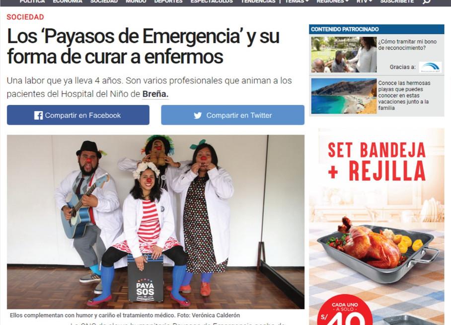 Los 'Payasos de Emergencia' y su forma de curar a enfermos