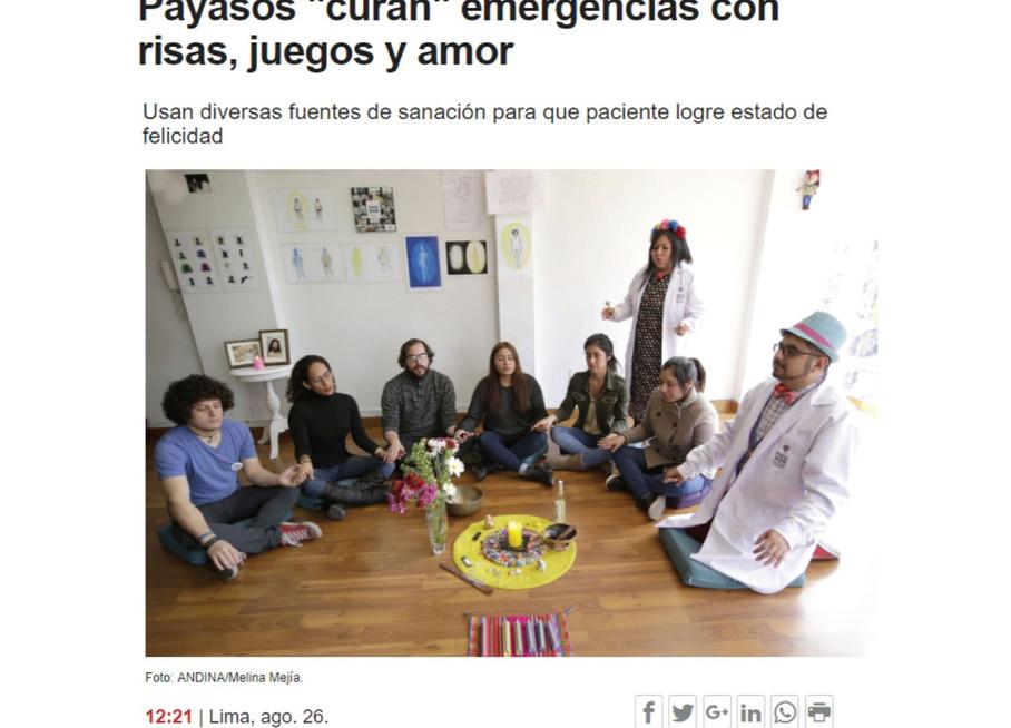 """Payasos """"curan"""" emergencias con risas, juegos y amor"""